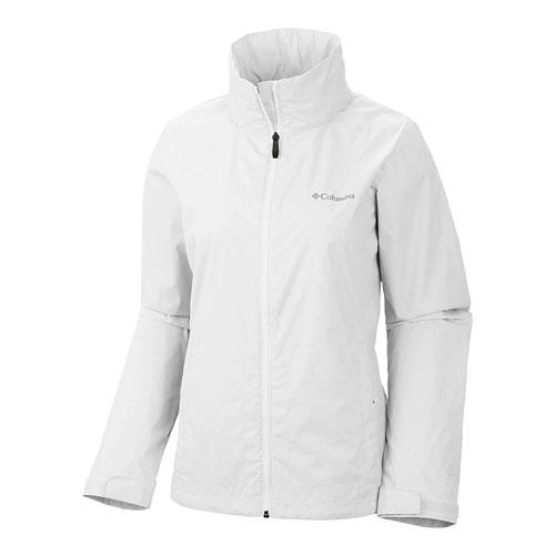 Women's Rainwear Switchback Jacket, White, swatch