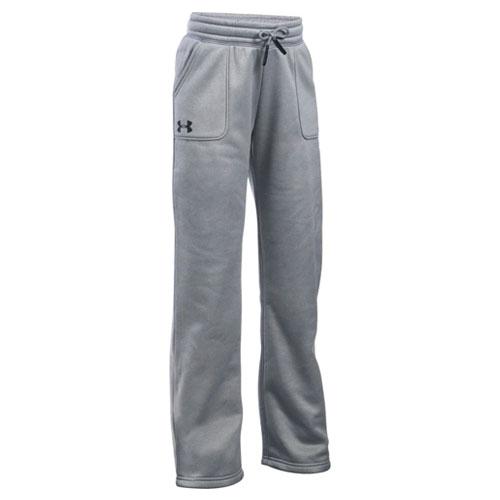Girls' Storm Fleece Training Pants, Heather Gray, swatch