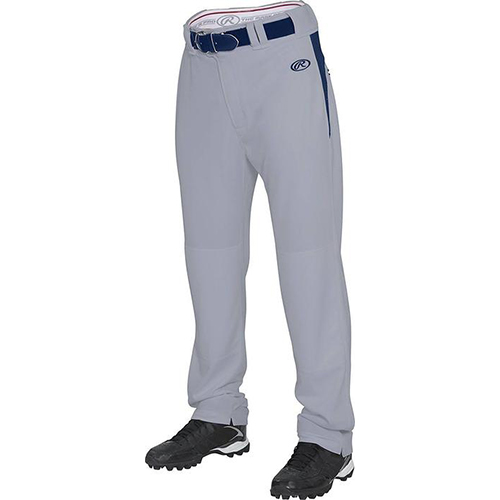 Youth Plated Baseball Pants, Gray/Navy, swatch