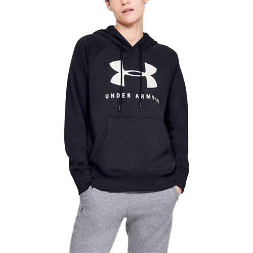 Women's Rival Fleece Sportstyle Graphic Hoodie, Black, swatch
