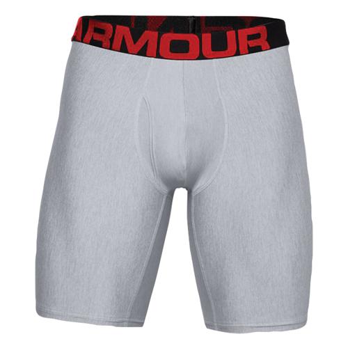 """Men's UA Tech 9"""" Boxerjock 2-Pack, Gray, swatch"""