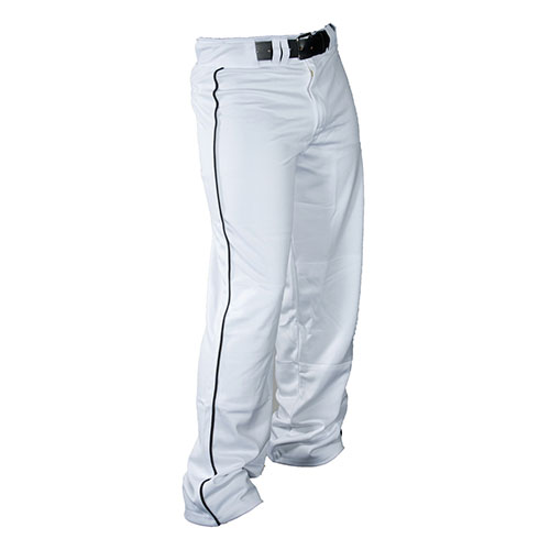 Youth Stadium Piped Open Bottom Baseball Pant, White/Black/Gray/Silver, swatch