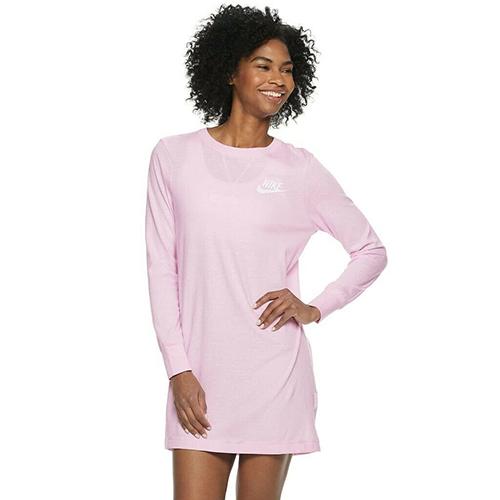 Women's SportSwear Gym Vintage Dress, Pink, swatch