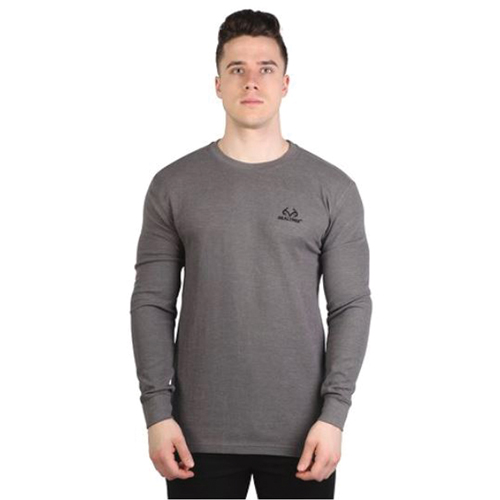 Men's Realtree Thermal Long Sleeve Tee, Charcoal/Heather, swatch