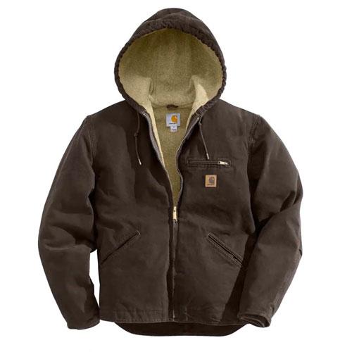 Men's Sandstone Sherpa-Lined Sierra Jacket, Brown, swatch