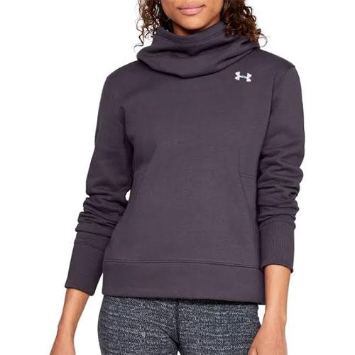 Women's Cotton Fleece Logo Hoodie, Purple, swatch