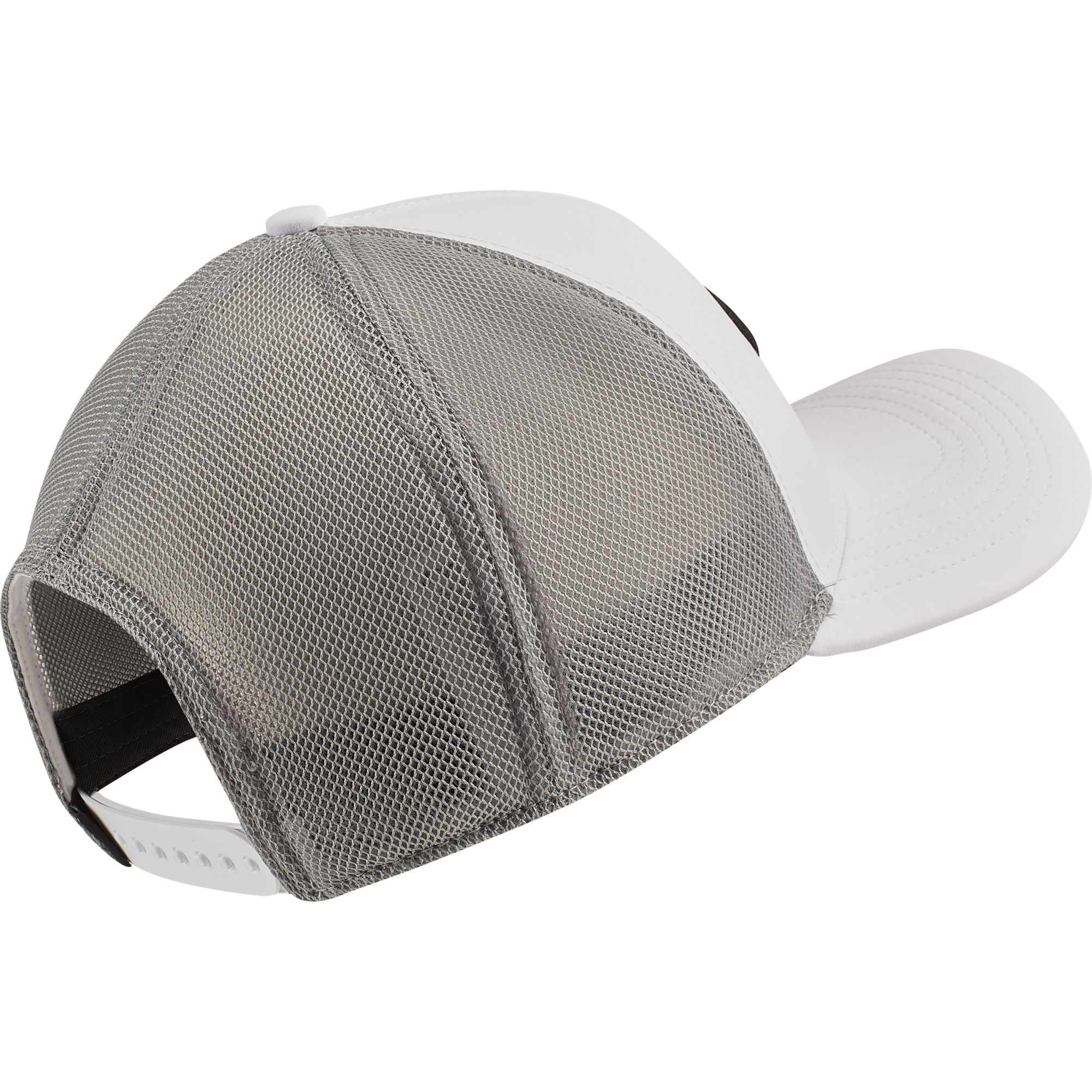 AeroBill Classic99 Mesh Golf Hat, White/Black, large
