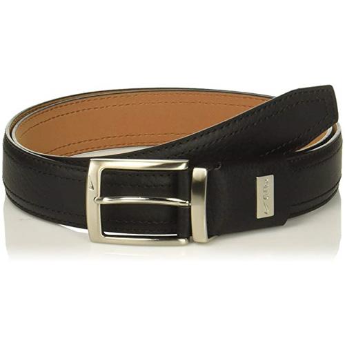 Men's G-flex Pebble Grain Leather Golf Belt, Black, swatch