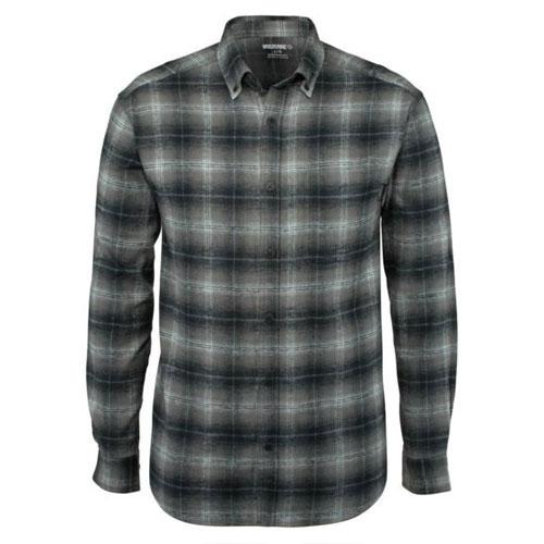 Men's Pike Long Sleeve Flannel Shirt, Black, swatch