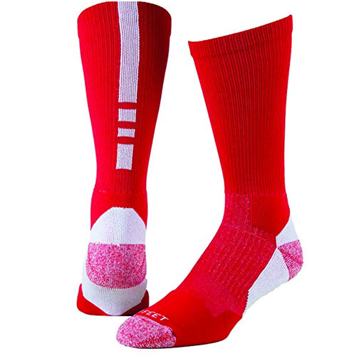 Shooter Socks, Red/White, swatch