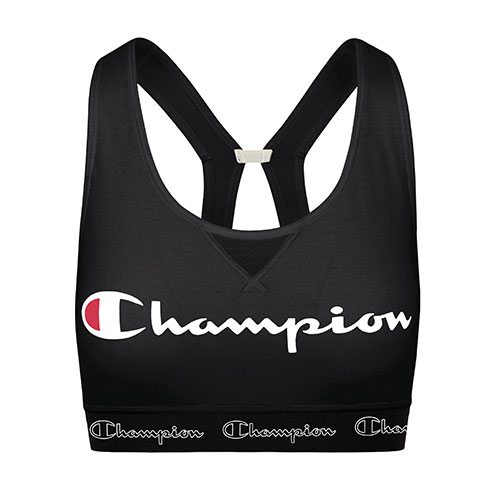 Women's Authentic Script Logo Sports Bra, Black, swatch