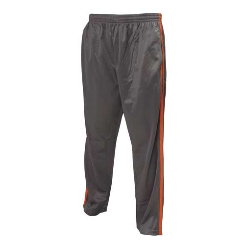 Men's Tricot Athletic Pant, Dk Gray/Orange, swatch
