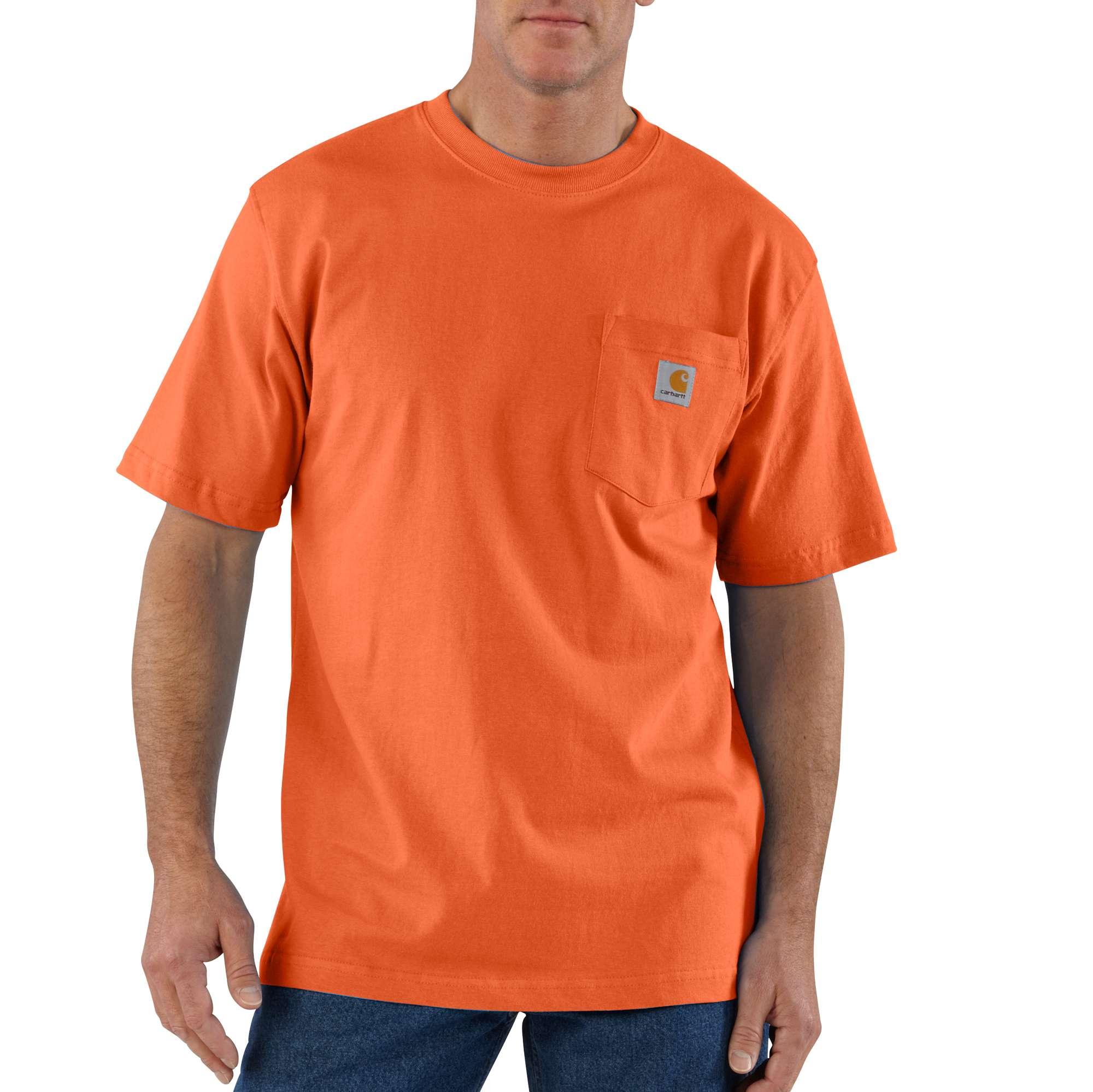 Men's Workwear Pocket Tee, Orange, swatch