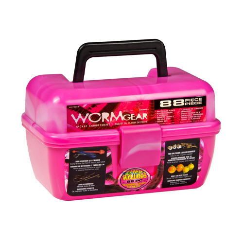 Lure and tackle box with 88 pieces, Pink, swatch