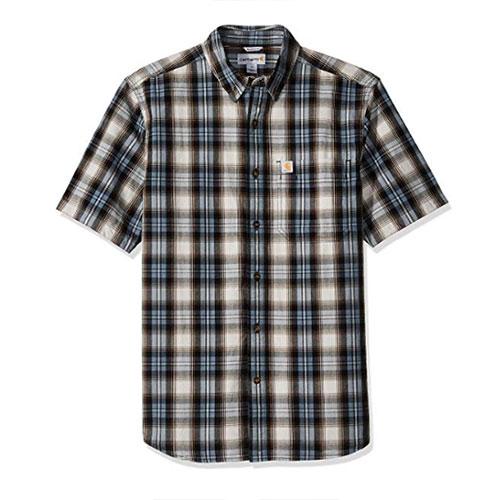 Men's Essential Plaid Button Down Shirt, Blue, swatch