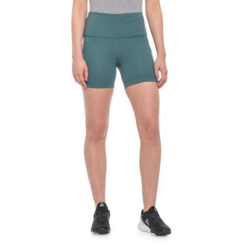 "Women's 5"" High Rise Shorts, Green, swatch"