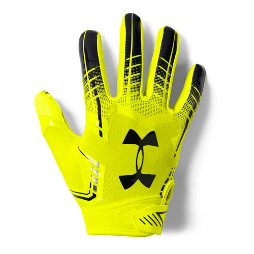 Youth F6 Football Gloves, Neon Yellow, swatch