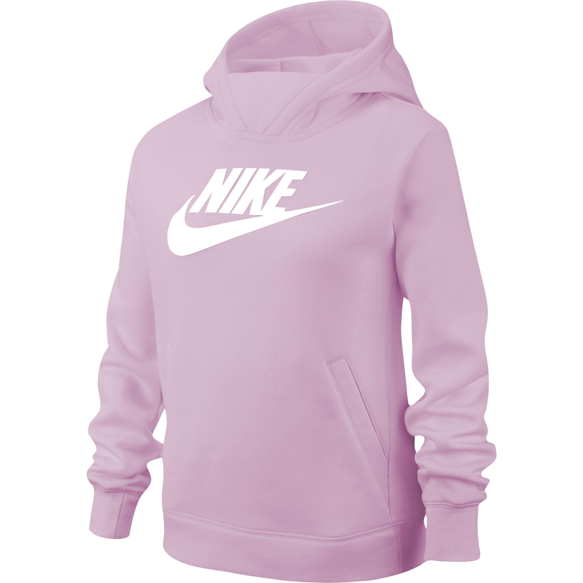 Girls' Sportswear Pullover Hoodie, Pink, swatch