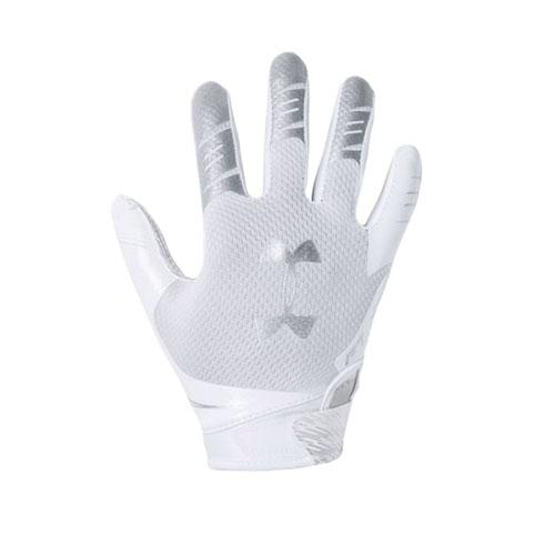 Men's F7 Football Receiver Gloves, White, swatch