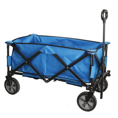 Quad Folding Wagon, Blue/Black, swatch