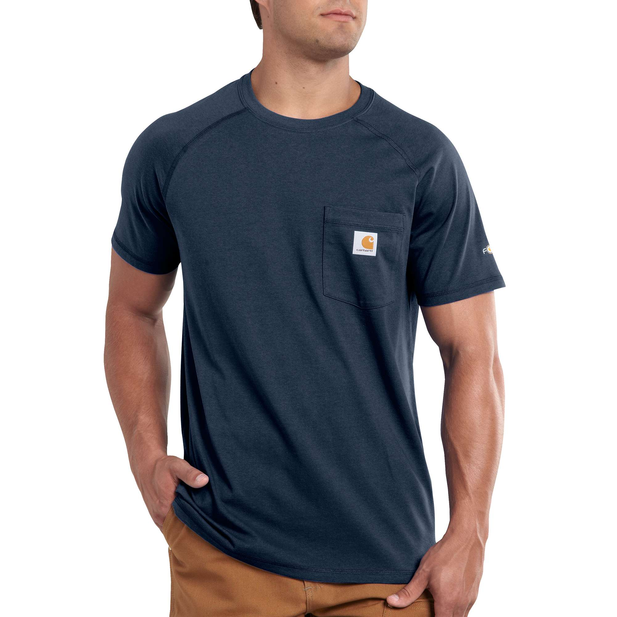 Men's Force Delmont Short Sleeve T-Shirt, Navy, swatch