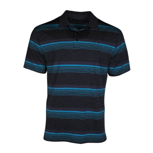 Men's Playoff Golf Polo, Black, swatch