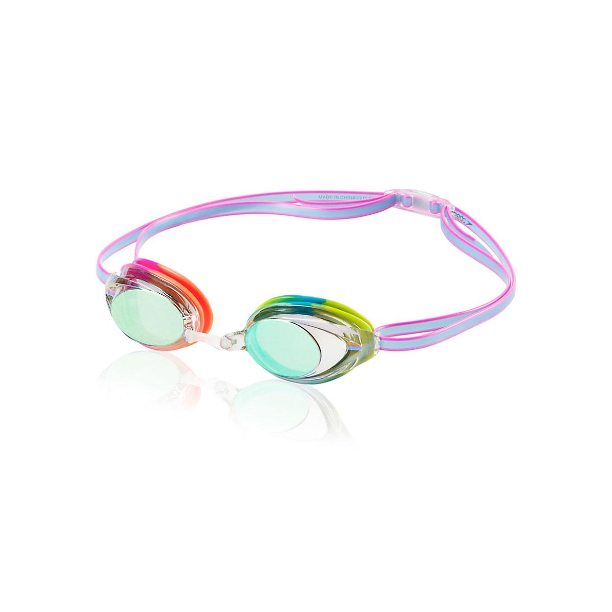 Jr. Vanquisher 2.0 Mirrored Swim Goggles, Rainbow, swatch