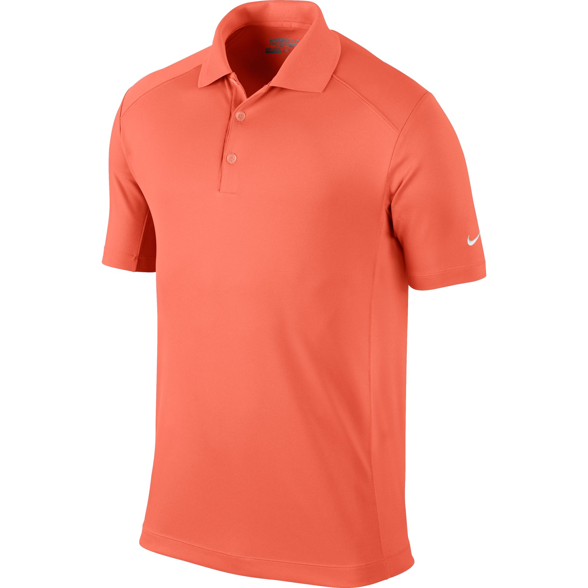 Men's Victory Solid Polo Golf Shirt, Orange, swatch