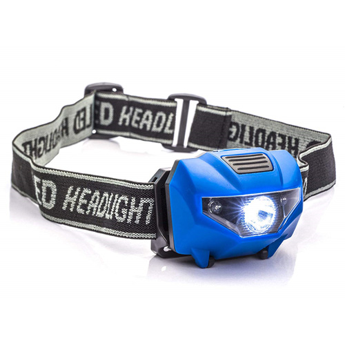 150 Lumens Spotlight Head Lamp with 4-Stage Switch, Blue, swatch