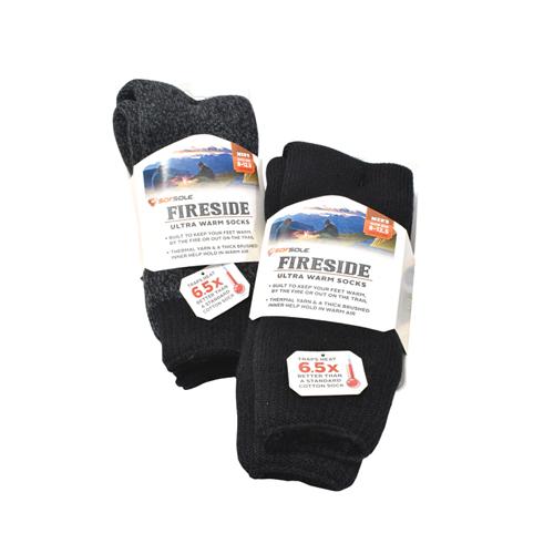 Men's Ultra Warm Fireside Socks, Black, swatch