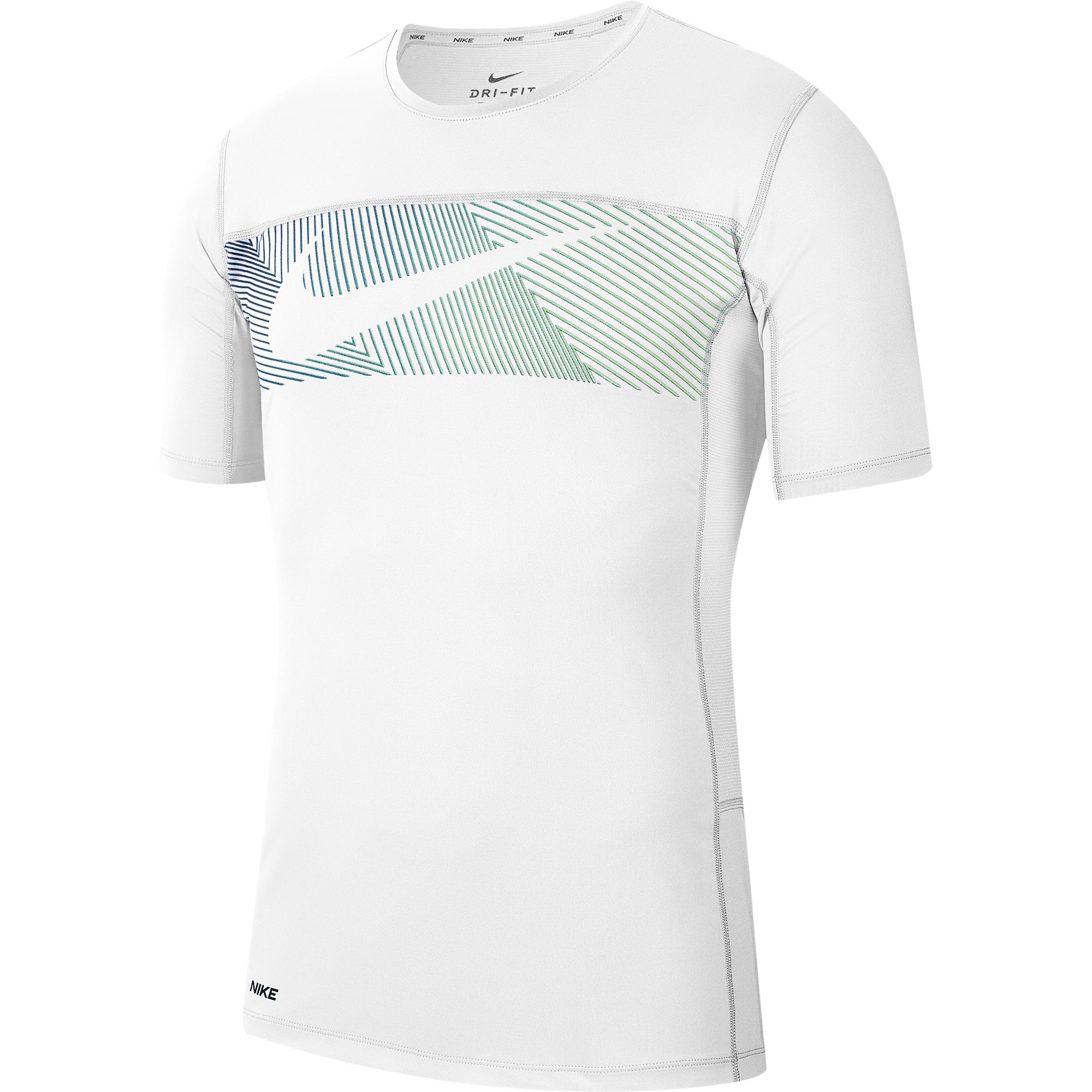 Men's Short-Sleeve Graphic Training Top, White, large