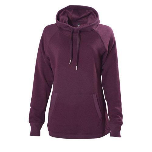 Women's Long Sleeve Fleece Lined Hoodie, Dk Red,Wine,Ruby,Burgandy, swatch