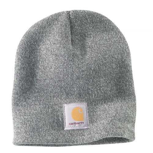 Acrylic Knit Hat, Heather Gray, swatch