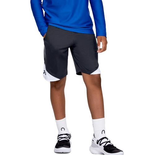 Boys' Stunt 2.0 Shorts, Black/White, swatch
