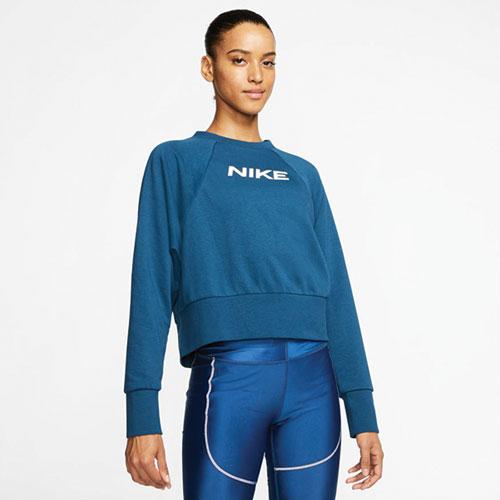 Women's Dri-Fit Get Fit Crew Sweatshirt, Navy, swatch