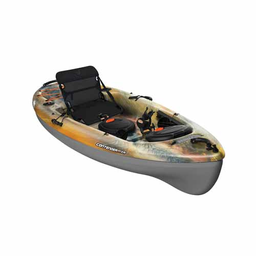 Contender 100XR Sit-On-Top Angler Kayak, Camouflage Brown, large