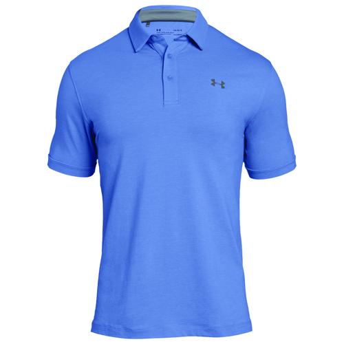 Men's Charged Cotton Scramble Polo, Blue/Silver, swatch