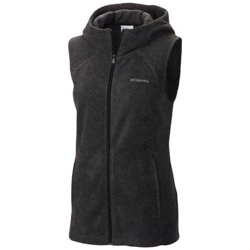 Women's Benton Springs Hooded Vest, Charcoal/Heather, swatch