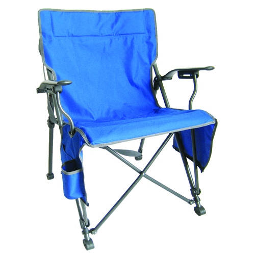Zipper Close Hard Arm Chair, Royal Bl,Sapphire,Marine, swatch