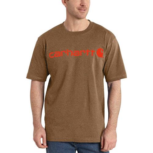 Men's Short Sleeve Logo T-Shirt, Brown, swatch