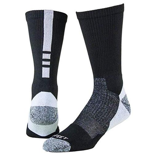 Shooter Socks, Black/White, swatch