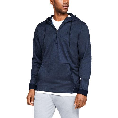 Men's Armour Fleece 1/2 Zip Hoodie, Gray, swatch