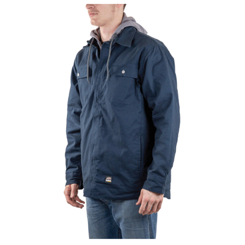 Men's Hooded Shirt Jacket, Navy, swatch