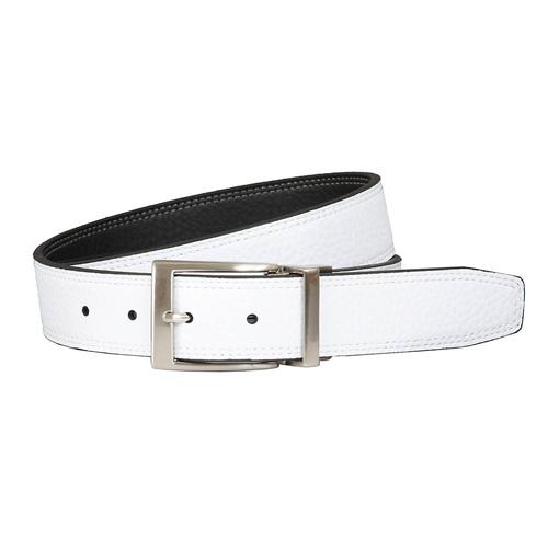 Men's Classic Reversible Golf Belt, Black/White, swatch