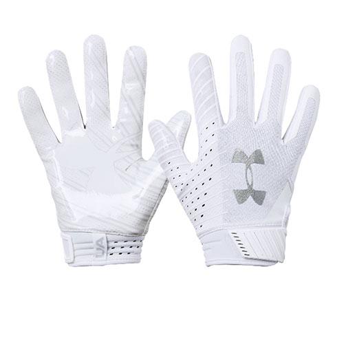Men's Spotlight NFL Football Gloves, White/Silver, swatch