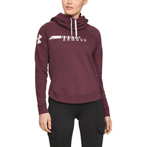 Women's Favorite Fleece Camo Logo Hoodie, Purple, swatch