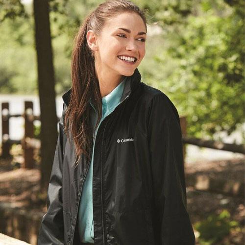 Women's Rainwear Switchback Jacket, Black, swatch