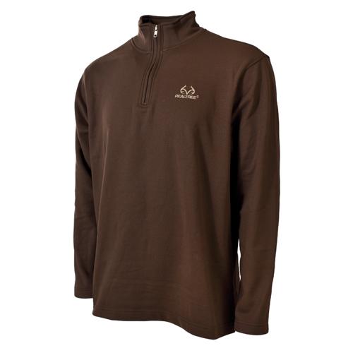 Men's 1/4 Zip Fleece Top, Dark Brown,Dark Natural, swatch