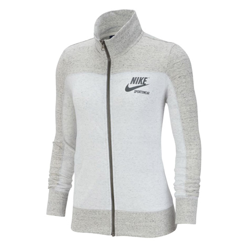 Women's Sportswear Gym Vintage Full Zip Hoodie, Heather Gray, swatch