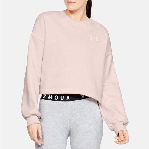 Women's Rival Graphic LC Fleece Crew Sweatshirt, Pink, swatch